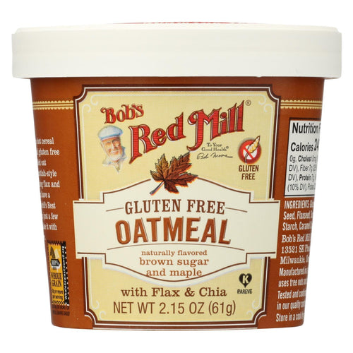 Bob's Red Mill Gluten Free Oatmeal Cup, Brown Sugar And Maple - 2.15 Oz - Case Of 12