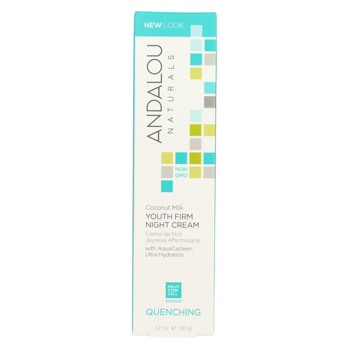 Andalou Naturals Coconut Milk - Youth Firm Night Cream - 1.7 Oz
