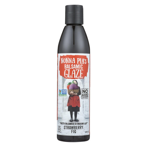 Nonna Pia's Balsamic Reduction - Strawberry Fig - Case Of 6 - 8.45 Oz.