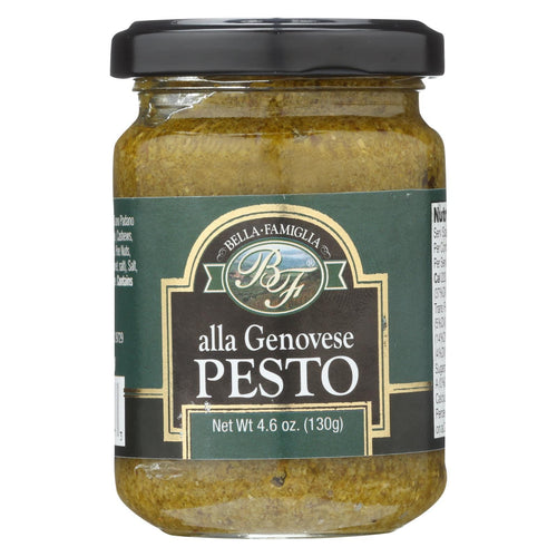 Bella Famiglia Pesto Sauce - Genoves - Case Of 12 - 4.6 Fl Oz