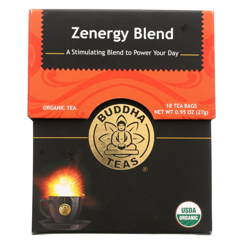 Buddha Teas - Organic Tea - Zenergy Blend- Case Of 6 - 18 Bags