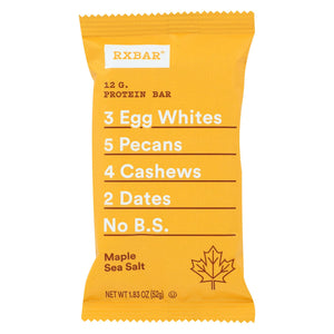Rx Bar - Protein Bar - Maple Sea Salt - Case Of 12 - 1.83 Oz.