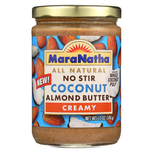 Maranatha Natural Foods Coconut Almond Butter - Creamy - No Stir - Case Of 6 - 12 Oz