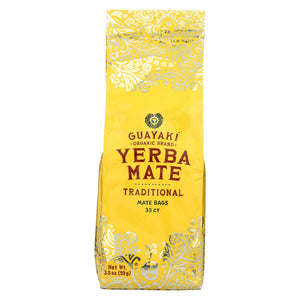 Guayaki Mate - Organic - Yerba - Traditional - Case Of 6 - 33 Count