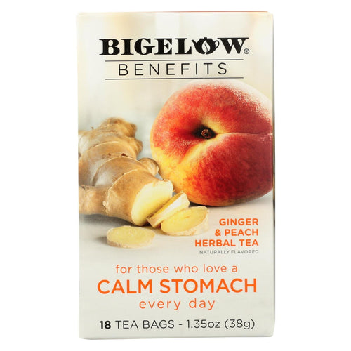 Bigelow Tea Tea - Ginger Peach Stedy Stomach - Case Of 6 - 18 Bag
