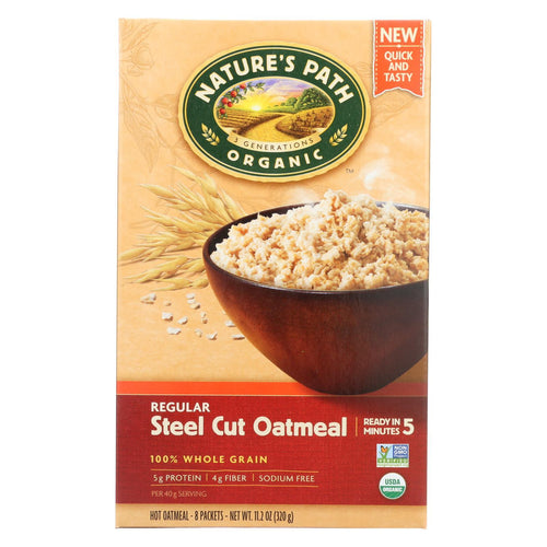 Nature's Path Oats - Organic - Steel Cut - Quick - Case Of 6 - 8-1.4 Oz