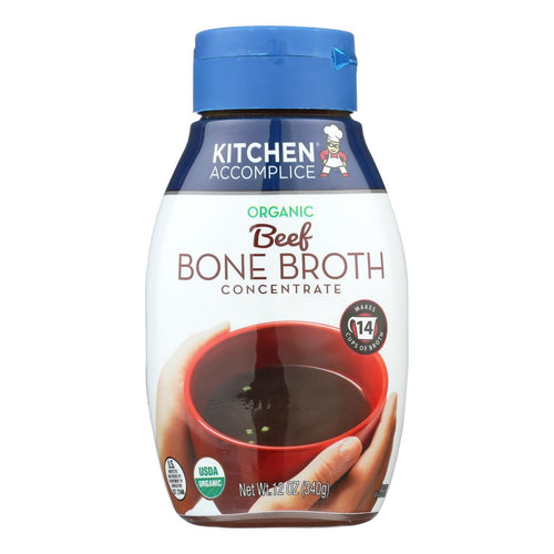Kitchen Accomplice Bone Broth Concentrate - Organic - Beef - Case Of 6 - 12 Fl Oz