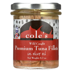Cole's Tuna Fillets - In Olive Oil - Case Of 6 - 6.70 Oz.