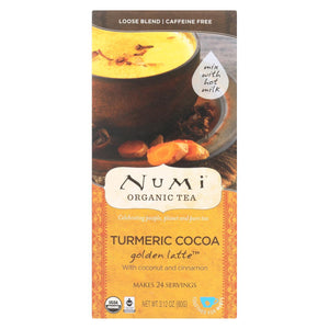 Numi Tea Golden Latte - Organic - Tumeric Cocoa - Case Of 6 - 2.12 Oz