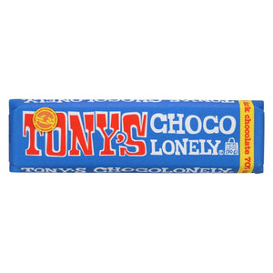 Tony's Chocolonely Bar - Extra Dark Chocolate - Case Of 35 - 1.8 Oz.