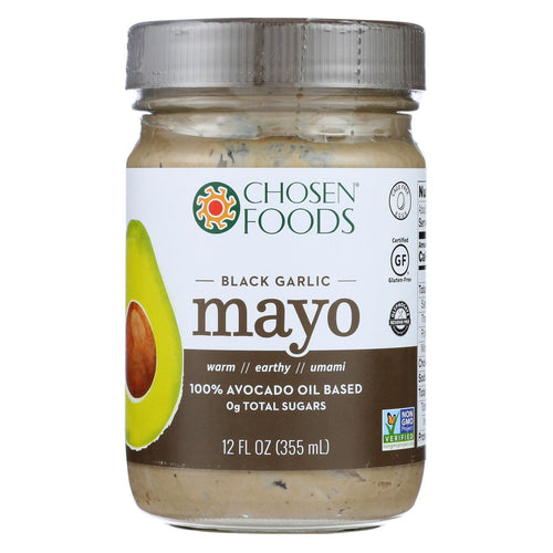 Chosen Foods Avocado Oil Mayo - Black Garlic - Case Of 6 - 12 Oz