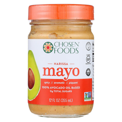 Chosen Foods Avocado Oil Mayo - Harissa - Case Of 6 - 12 Oz