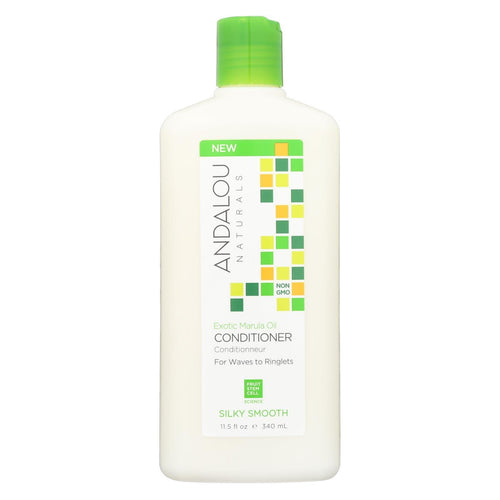 Andalou Naturals Silky Smooth Conditioner -exotic Marula Oil - 11.5 Fl Oz