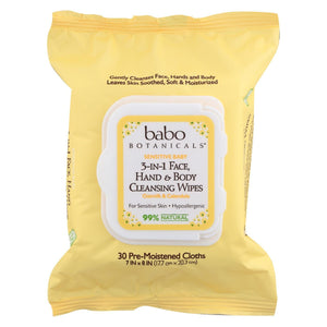 Babo Botanicals Hand And Body Cleansing Wipes - Oatmilk And Calendula - Case Of 4 - 30 Count