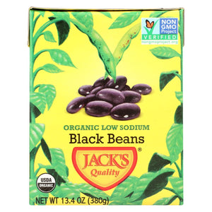 Jack's Quality Organic Black Beans - Low Sodium - Case Of 8 - 13.4 Oz