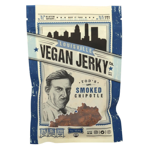 Louisville Vegan Jerky Jerky - Vegan - Smoked Chipotle - Case Of 10 - 3 Oz