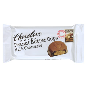 Chocolove Xoxox - Cup - Peanut Butter - Milk Chocolate - Case Of 12 - 1.2 Oz