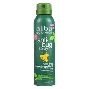 Alba Botanica - Anti-bug Spray - Deet Free - 4 Fl Oz