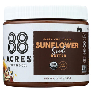 88 Acres Seed Butter - Chocolate Sunflower - Case Of 6 - 14 Oz.