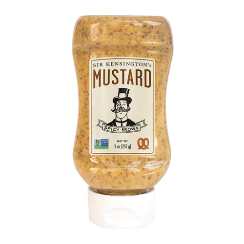 Sir Kensington's Mustard - Spicy Brown Squeeze Bottle - Case Of 6 - 9 Oz