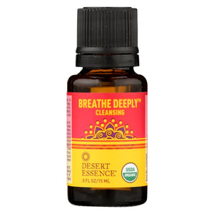 Desert Essence Essential Oil - Breathe Deeply - Case Of 1 - .5 Fl Oz.