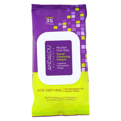 Andalou Naturals Swipes - Age Defying Micellar - Case Of 3 - 35 Count