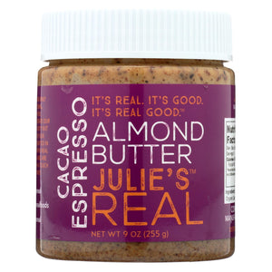 Julie's Real Almond Butter - Cacao Espresso - Case Of 6 - 9 Oz.