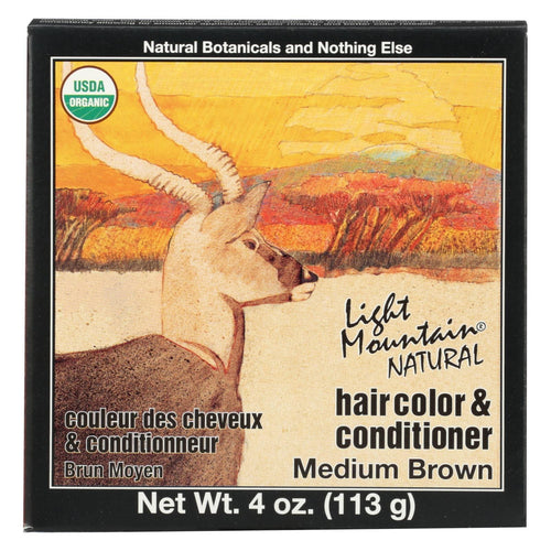 Light Mountain Organic Hair Color And Conditioner - Medium Brown - 4 Oz