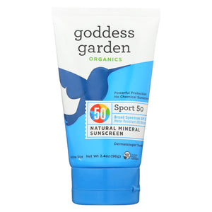 Goddess Garden Sunscreen - Sport - Spf 50 - Tube - 3.4 Oz