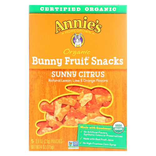 Annie's Homegrown Fruit Snack Sunny Citrus - Case Of 10 - 4 Oz