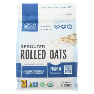 One Degree Organic Foods Organic Rolled Oats - Sprouted - Case Of 4 - 24 Oz