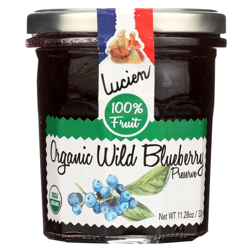 Lucien Georgelin Fruit Spread - Organic - Wild Blueberry - Case Of 6 - 11.28 Oz