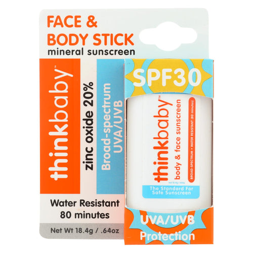 Thinksport Sunscreen - Face & Body - Spf 30 - .64 Oz