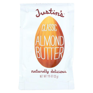 Justin's Nut Butter Squeeze Pack - Almond Butter - Classic - Case Of 10 - 1.15 Oz.