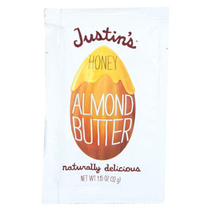 Justin's Nut Butter Squeeze Pack - Almond Butter - Honey - Case Of 10 - 1.15 Oz.
