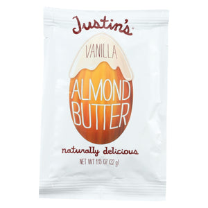 Justin's Nut Butter Squeeze Pack - Almond Butter - Vanilla - Case Of 10 - 1.15 Oz.