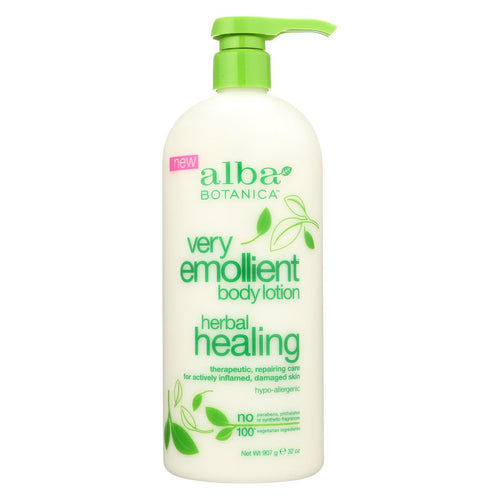 Alba Botanica Body Lotion - Very Emollient - Herbal - 32 Oz