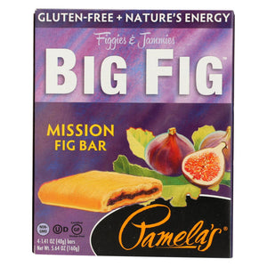 Pamela's Products - Gluten-free Big Fig Bar - Mission Fig - Case Of 8 - 5.64 Oz.