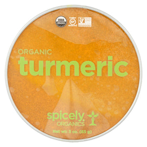 Spicely Organics - Organic Turmeric - Case Of 2 - 3 Oz.