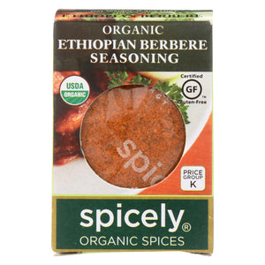 Spicely Organics - Organic Ethiopian Berbere Seasoning - Case Of 6 - 0.4 Oz.