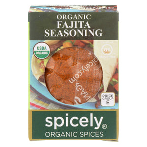 Spicely Organics - Organic Fajita Seasoning - Case Of 6 - 0.4 Oz.