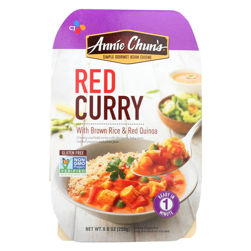 Annie Chun's  Medium Spicy Red Curry Ready Meal - Case Of 6 - 9 Oz