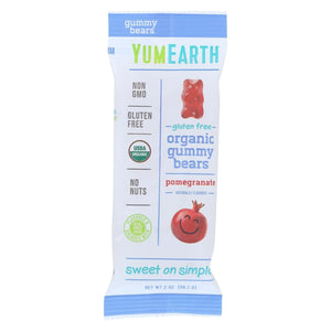 Yumearth Organics Organic Gummy Bears - Pomegranate - Case Of 12 - 2 Oz