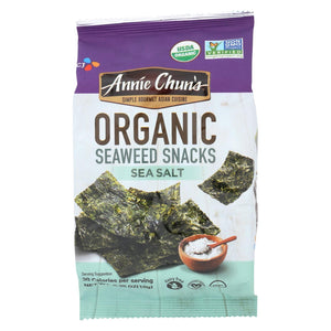 Annie Chun's Seaweed Snack - Sea Salt - Case Of 12 - .35 Oz.