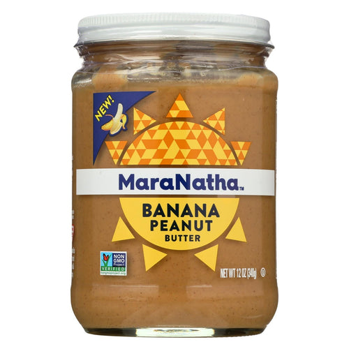 Maranatha Natural Foods Peanut Butter - Banana - Case Of 6 - 12 Oz