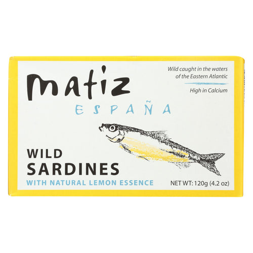 Matiz Sardines - In Oil With Lemon - Case Of 12 - 4.2 Oz