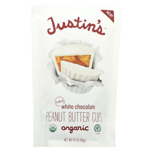 Justin's Nut Butter Peanut Butter Cups - White Chocolate - Case Of 6 - 4.7 Oz.