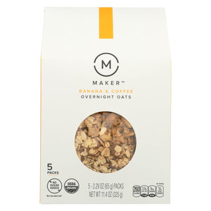Maker Overnight Oats  - Banana And Coffee - Case Of 6 - 11.4 Oz.