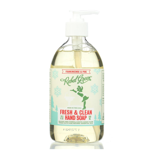 Rebel Green - Fresh And Clean Liquid Hand Soap - Frankincense And Pine - Case Of 4 - 16.9 Fl Oz.