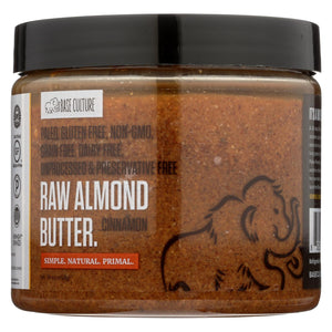 Base Culture Almond Butter - Cinnamon - Case Of 6 - 16 Oz.